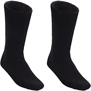2 Pairs Awesome Bamboo Socks For Men Thick Cushion Heavy Duty Mens Hiking Work Sock