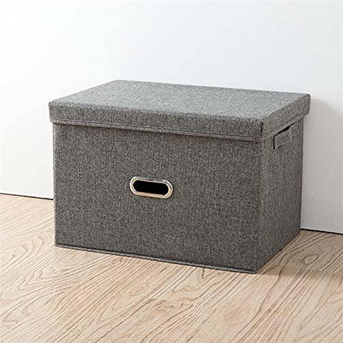 JKLJKL Caja de Almacenamiento Lothing Plegable Organizador de contenedor de Almacenamiento de rectángulo de rectángulo con Cubierta portátil (Color : 1, Size : 32x24x18cm)