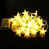 Uping Led Lichterkette Sterne 30er Batterienbetriebene für Party, Garten, Weihnachten, Halloween, Hochzeit, Beleuchtung Deko usw. 4,5M warm weiß - 5