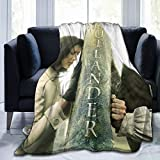 Outlander Jamie and Claire Blanket Soft Flannel Warm Fuzzy Blanket for Couch Office Picnic Travel Best Friend Memorial Birthday Gifts for Kids Adults Throw Blankets 50'x40' Inch