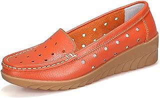 Melady Women Fashion Loafers Shoes Wedge Low Heels Slip On