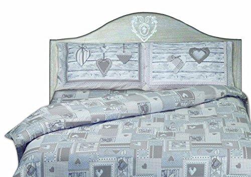 Ricamificio Pezzoli Aprica Bettbezug, 100% Baumwolle, Beige, Doppelbett, 240 x 290 x 0.2 cm