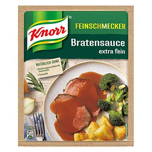 Knorr Feinschmecker Braten Soße (Extra fein ohne geschmacksverstärkende Zusatzstoffe und ohne Farbstoffe), 1er-Pack (1 x 23 g )