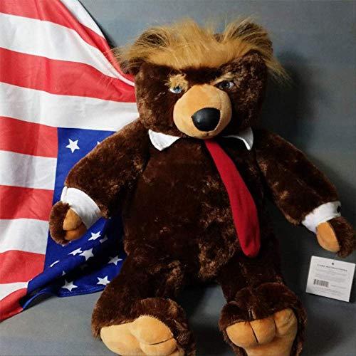 QWYU 60 cm Donald Trump oso juguetes de peluche Cool USA Presidente con bandera capa colección muñeca para niños
