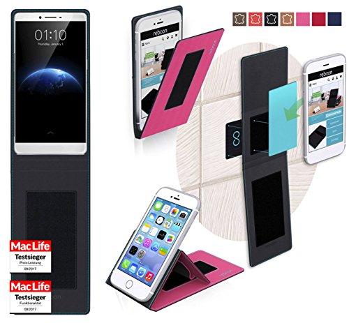 reboon Hülle für Oppo R7 Plus Tasche Cover Case Bumper | Pink | Testsieger