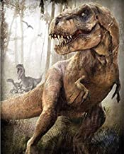 Full Square/Round Drill 5D Diamond Painting Dinosaurs T-Rex Cross Stitch Kits DIY Mosaic Embroidery Home Decoration Bedroom Wall Painting 30cm X 40cm