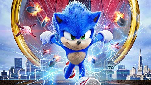 GUANGMANG Puzzle 1000 Piezas - Póster De Sonic The Hedgehog-Movie - Puzzle 3D Personalizado De Madera Montaje Rompecabezas Divertido 75X50Cm