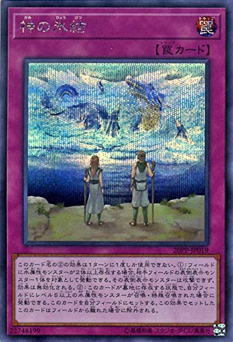 遊戯王カード 神の氷結(シークレットレア) プレミアムパック2020(20PP)   通常罠