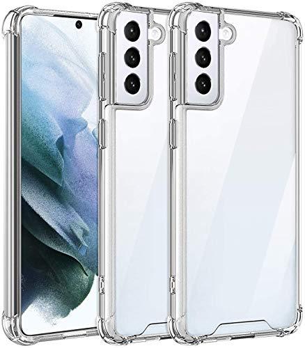 AVANA Kompatibel mit Samsung Galaxy S21 5G Hülle Durchsichtige Schutzhülle Hülle TPU Schale Cover Kratzfest Klar Bumper Kantenschutz - Transparent