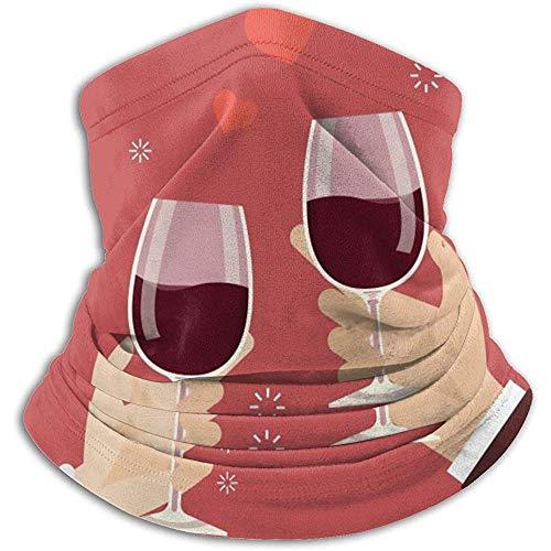 air kong Schal Valentinstag Mann und Frau beim Anstoßen von Weingläsern Halsmanschette Magisches Stirnband Unisexmaske Bandana Winter Warme Kopfbedeckung