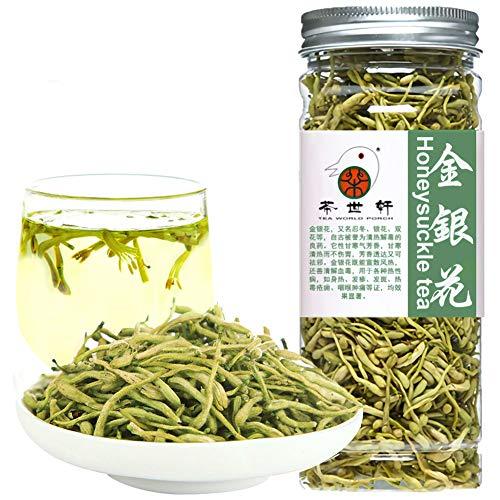 Plant Gift Honeysuckle Tea, Dried Flowers, Jinyinhua, Herb Tea Organic Herbal Medicine, Pure and Medicinal Grade Chinese Herb 40G/ 1.4oz