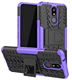 Yiakeng Compatible for LG K40 Case, LG Solo LTE Case, LG K12 Plus Case, LG X4 2019 Case, Heavy Duty Protection with Kickstand Slim Phone Cases (Purple)