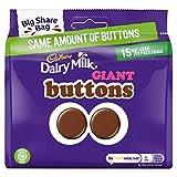 Cadbury Dairy Milk Giant Buttons Bag Plastic X1 240G Bite Size Chocolate