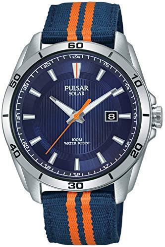 Pulsar Active Herren Uhr analog Solar mit Nylon Armband PX3175X1