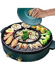 2 I 1 Elektrisk Hotpot-grill, Bärbar Electric Hot Pot Grill, Multifunktionell Rökfri Elektrisk Hot Pot-grill, Kapacitet För 2-8 Personer