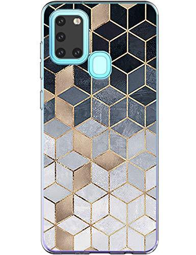 Compatible con Samsung Galaxy A21s funda de silicona con diseño 360 Case transparente TPU flexible silicona funda Galaxy A21s funda para teléfono móvil de 6,5 pulgadas para niñas