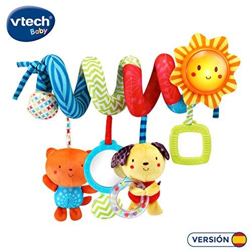 VTech- Espiral Canciones y Animales Colgante Peluche para Silla, Carro de Paseo electrónico Interactivo. (3480-522122)