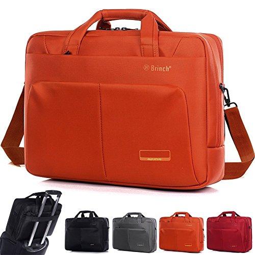 Laptoptasche Professionel Umhängetasche Laptop Schultertasch Tragetasche Tablette Aktentasche Für 15-15,6 Zoll Laptop/Tablet/MacBook/Notebook (Orange)