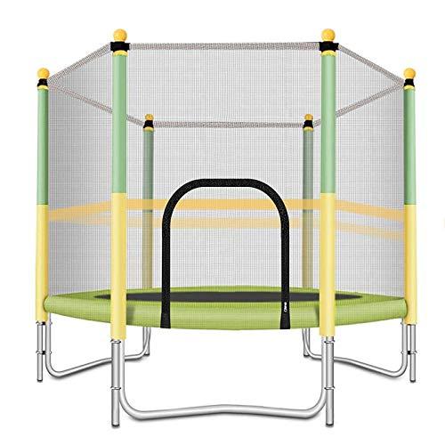 CHENMAO Trampolín, trampolín de 5 pies, Mini Fitness trampolín con Red de Seguridad, Almohadillas de Primavera para niños en Interiores y Exteriores, con una Carga máxima de 220 Libras