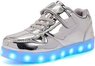 Sneaker Ragazzo LED Luminosi Sneakers con Le Luci Accendono Scarpe Sportive Scarpe da Ginnastica Bambino