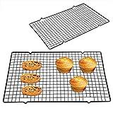 Rejillas de enfriamiento de acero inoxidable para hornear Bandeja antiadherente resistente para cocinar para asar Bandeja segura para horno para asar