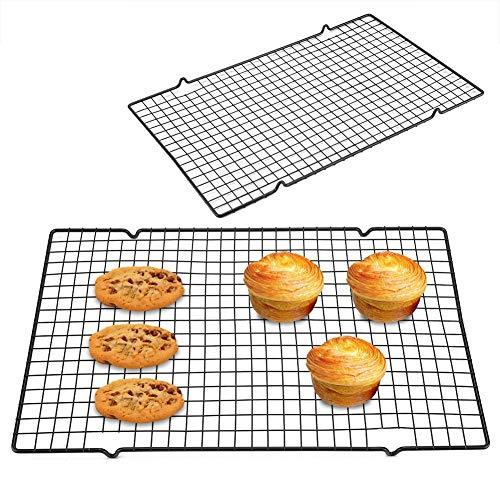 1 pezzo Griglia di raffreddamento per dolci 40,5 x 25 x 1,5 cm Griglia in acciaio inox Griglia per forno Cottura arrosto Cottura Cottura alla griglia