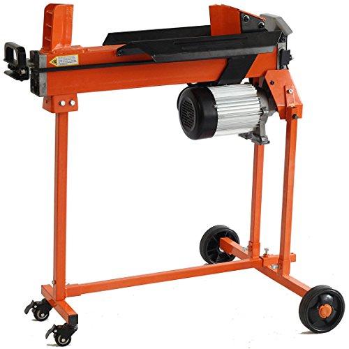 Forest Master 5 Tonnen Holzspalter (inkl. Doppelklinge, Tisch und Rücklaufsperre ) Brennholzspalter kontinuierlich variabel bis zu 50 cm im Durchmesser . CE-zertifiziert