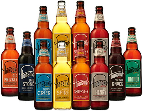 Hobsons Mixed English Real Ale & Beer Case - 12 x 500ml Bottles - Assorted Beer Selection Gift Set - by a British Craft Brewery