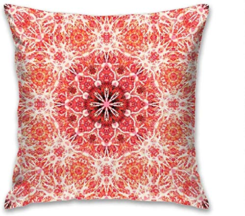 Aoyutiy decoratieve kussenslopen van polyester kussenslopen bank kussensloop bank 18 x 18 inch rode bloem mandala