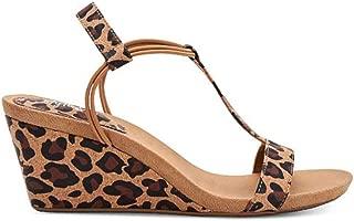 Womens Mulan Open Toe Casual Platform Sandals, Leopard, Size 8.0