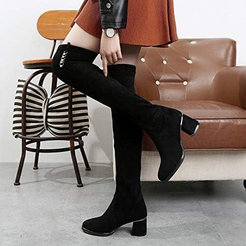 Stiefel The Stiefeletten Knie Over Damen Shukun v8NO0Pymnw