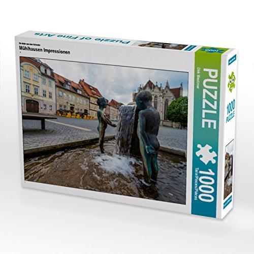 CALVENDO Puzzle Mühlhausen Impressionen 1000 Teile Lege-Größe 64 x 48 cm Foto-Puzzle Bild von Dirk Meutzner
