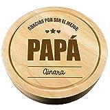 CALLE DEL REGALO Tabla de Queso 'Gracias por ser el Mejor papá' Personalizada con el Nombre