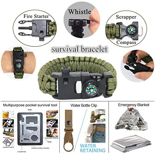 Gifts for Men Dad Husband Fathers Day, Survival Gear and Equipment 12 in 1, Fishing Hunting Christmas Birthday Gifts… 4