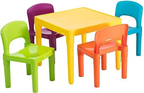 Lenoxx Kids 5 Piece Colourful Plastic Table & Chairs