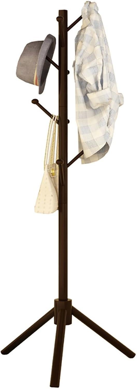 Triangle Coat Rack Floor Solid Wooden Hangers Creative Single Rod Coat Rack