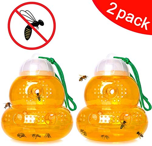 DIVCHI 2Pack Wasp Trap - Wasp Catcher, Bee Trap, Yellow...