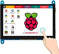 ELECROW 5 inch Capacitive Touch Screen 800x480 TFT LCD Display HDMI Interface Compatible with Raspberry Pi 4B 3B+ 3B 2B BB Black Banana Pi Windows 10 8 7