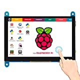 Elecrow - Pantalla táctil capacitiva de 5 Pulgadas (800 x 480 TFT, Pantalla LCD, Interfaz HDMI, Compatible con Raspberry Pi 4B 3B + 3B 2B BB, Color Negro, Banana Pi Windows 10 8 7)