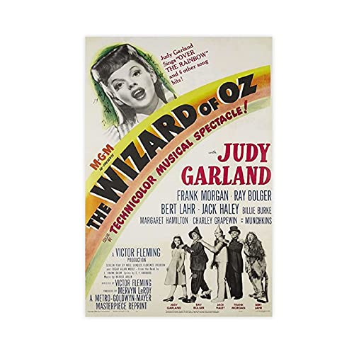 Movie The Wizard Of OZ Judy Garland Canvas Poster Bedroom Decor Sports Landscape Office Room Decor Gift Unframe:12×18inch(30×45cm)