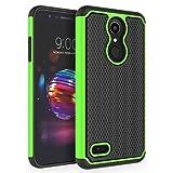 LG K10 2018 Case, LG K30 Case, LG Premier Pro LTE Case, LG K10 Alpha Case, SYONER [Shockproof] Defender Phone Case Cover [Green]