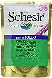Schesir Cat Jelly Kitten Hühnerfilet, Katzenfutter nass für Kätzchen in Gelee, 20 Beutel x 100 g