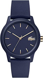 Lacoste TR90 Quartz Watch with Rubber Strap, Blue, 17.2 (Model: 2001067)