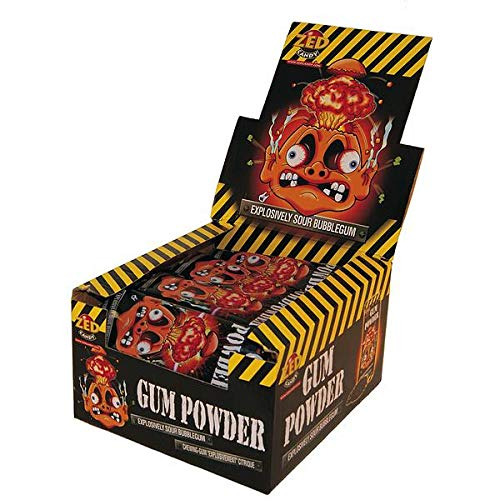 DOK Gum Powder Kaugummi ( 30 x 40g) Box Sour Bubble Gum