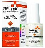 Nail Tek Foundation 2, Ridge Filling Strengthening Base Coat for Soft and Peeling Nails, 0.5 oz, 1-Pack