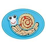 Teller Baby BPA-frei Rutschfest Teller Silikon Baby Tischset Kinder Abwaschbar Babyteller mit Saugnapf Babygeschirr für Mikrowelle und Spülmaschine, Kinderteller für die Meisten Hochstuhlschalen