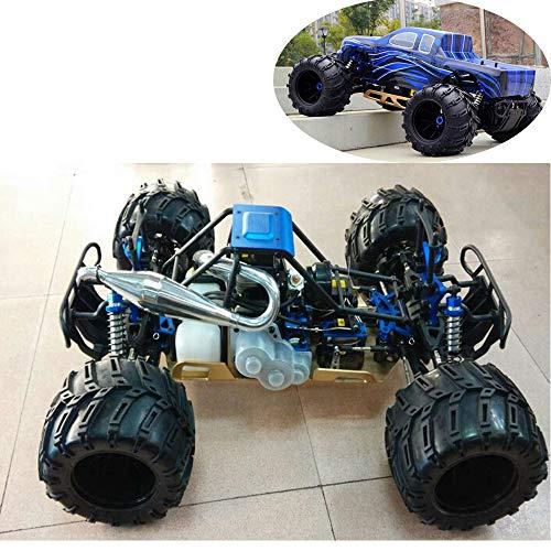 4WD Benzin RC Auto Für Erwachsene, 1/5-Skala RTR Buggy Mit 32Cc Hochleistungs-Ottomotor, Radio Controlled Monster Truck, Off-Road Spielfahrzeug,Blau