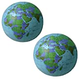 DLOnline 2 Pack Large Inflatable Beach Ball Globes,16 inch Inflatable Ball,Globe Beach Ball,Beach Toys,Beach Balls Inflatable,Inflatable Globe,Beach Inflatables,Large Inflatable Ball