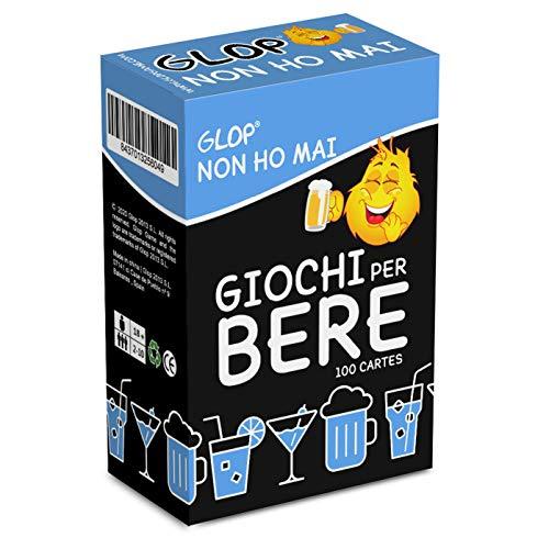 Glop Non ho mai - Giochi per Bere - Giochi Alcolici per Feste - Giochi da Tavolo per Adulti - Giochi di società - Dinking Game - 100 Carte