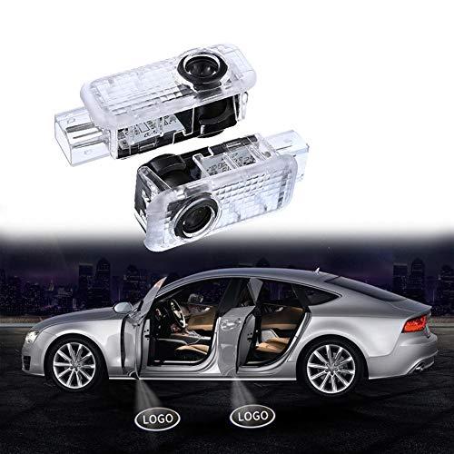 NUIOsdz Luz LED para Puerta de Coche, luz automática para proyector con Logotipo, luz de Bienvenida, luz de cortesía, para Audi A7 S7 RS7 2009-2019